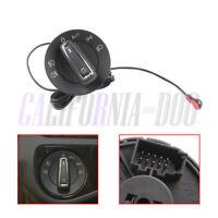 Chrome AUTO Headlight Switch + Light Sensor Module For VW Golf mk7 Octavia 2015