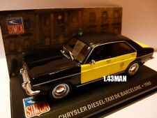 SIM6F Voiture 1/43 IXO altaya CHRYSLER Diesel Taxi Barcelone 1980