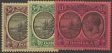 DOMINICA KGV Scott 83-85 SG89-91 Lightly Hinged