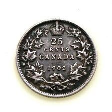 CANADA 1902 H Quarter 25 Cents VF Km 11 EXCELLENT CONDITION!