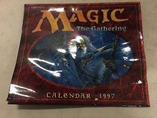 Magico The Gathering 1997 Calendario Contrassegno con Alcuni Incurvato su Angolo