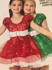 Christmas Dance Costume Red Dress Pageant Have Yourself a Merry Little xmas