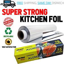 Aluminium Kitchen Catering Tin Foil FoodGrade Roast Baking Oven Wrap 75m x 450mm