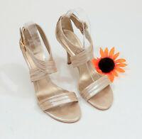 Gianni Bini Champagne Strappy Heels Sandals US 9.5M  #C016
