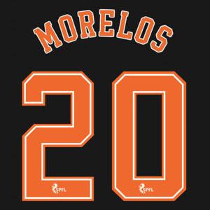 2020 2021 OFFICIAL SCOTTISH SPFL RANGERS 3RD NAME SET MORELOS 20 = ADULTS