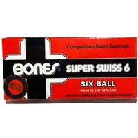 Bones Skateboard Bearings Super Swiss 6 Ball New Skate Rated Precision