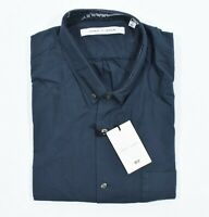 NEW UNIQLO AND LEMAIRE Oxford Long Sleeve Shirt Cotton Pocket Blue S
