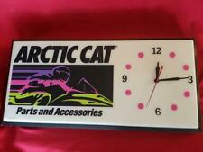 Dealers vtg Arctic Cat  Parts and Accessories Clock/Sign snowmobile