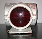 Vintage 4-Way Signal Lamp Red Glass Sparton Lenses w/Mounting - Tested - Works