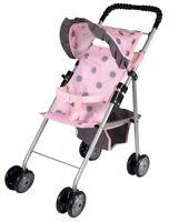 My First Dolls Toy Stroller Buggy Girls Pram Pink Baby Doll Pushchair For Kids
