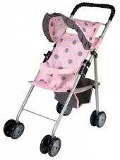 My First Dolls Toy Stroller Buggy Girls Pram Pink Baby Doll Pushchair For Kids