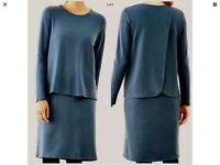 Pure Jill Dress J Jill Blue Luxe Tencel Women's Petite Large Lagenlook