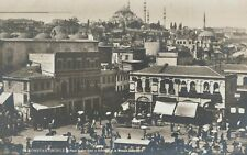 RPPC,Constantinople,Turkey,Place Ernine-Erun & Suleymaniye Mosque,c.1909