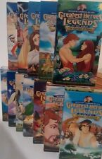 Greatest Heroes and Legends of the Bible-VHS Video Series-12 Animated films kids
