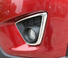 Stainless Steel Front Fog Light Lamp cover trims Chrome Mazda CX5 CX-5 2013 2014