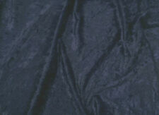Navy Blue crushed velvet/velour fabric/material - 1 full metre