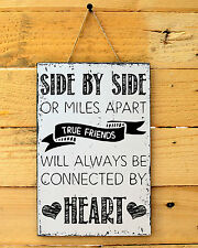 Friendship plaque sign quote close friends are forever wall wooden hanging T059