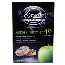 Bradley Technologies Smoker Bisquettes Apple 48 Pack Clean Smoke Flavor Btap48