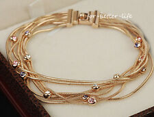 18K Rose GoldGP Austrian Crystal Fashion Jewelry Fashion Braclet Bangle AC187