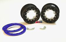"HiPer Tech 3 Front Black/Blue Beadlock Rims Wheels 10"" 10x5 3+2 YFZ Raptor Bansh"