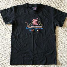 NORWÅY Embroiered Tee Shirt Childs  8--10 Yrs  Scandinavian Explorer  Cotton
