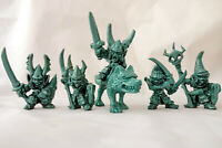 Goblins and wolf, Fantasy Plastic Toy Soldiers from Russia, 54mm, Oritet, RARE