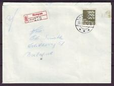 n3157/ Denmark Hampen Reg Cover 1962 w/Single 1.30 Lion Type