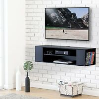 Floating TV Stand Wall Mounted Media Console Entertainment Center AV Shelves