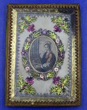 Vieux Travail de Monastère avec Médaillon, Sainte Colorié à Main Um 1800