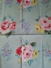 Vintage Set/4 Ralph Lauren COTTAGE LANE Floral Cloth Dinner Napkins Made in USA