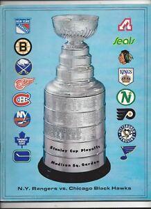 1973 NHL Playoff Semi-Finals Program (Black Hawks vs. Rangers) nr.mt (see scan)