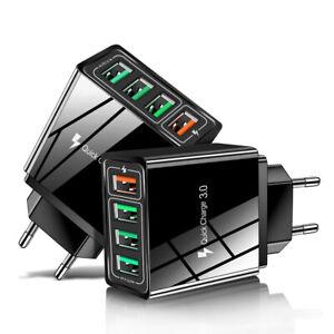 QC 3.0 USB Mehrfachstecker 4 fach Mehrfach Schnellladegerät Adapter Netzteil