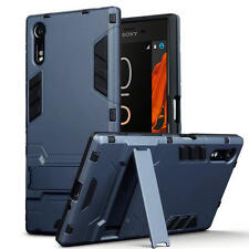 Slim Shock Resistant Armour Stand Case for Sony Xperia XZ/XZs - Blue