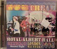 Cream Reunion Second Night Royal Albert Hall London May 2-3-5-6 2005 2-disc RARE