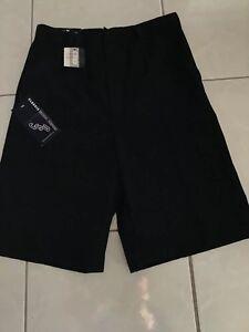 Classic School Uniform Wrinkle Resistant Black Shorts Boys Sz 20 NWT