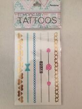 New Butterfly Love Metallic Gold Silver Temporary Tattoos