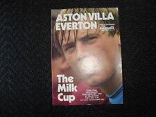 Aston Villa Football League Cup Fixture Programmes (1980s)