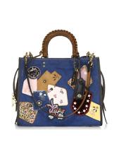 Coach Exotic Denim Patchwork ROGUE Large Satchel Bag 3-Way Purse Blue Multi NWT