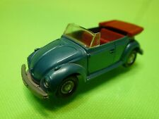VINTAGE PLASTIC -   VW VOLKSWAGEN BEETLE BUG - 1:87   WIKING   -  GOOD CONDITION