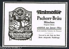 MÜNCHEN, Werbung 1913, Animator Pschorr-Bräu Brauerei Reklame Werbeanzeige (81)