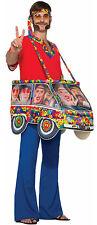Hippie Van Mens Adult 60S Free Spirit Funny Halloween Costume-Std