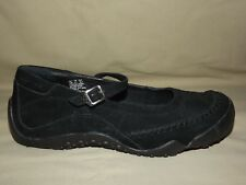 """WOMENS WORN ONCE """"WOLVERINE"""" BLACK SUEDE MARY JANES SIZE 7 1/2 M EXCELLENT"""