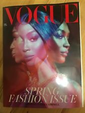 VOGUE💥 UK MAR 2019 SPRING FASHION NAOMI CAMPBELL BRAND NEW Subscriber's Edition