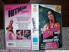 WWF Wrestling VHS Bret Hitman Hart His Greatest Hits deutsch WWE WCW AWA TNA ECW