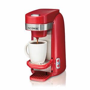 Red | 49960 Hamilton Beach FlexBrew Single Serve K-Cup Compatible Coffee Maker,