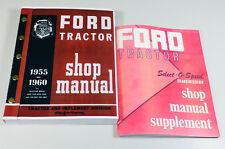 SET FORD 2000 4000 SERIES TRACTOR SERVICE REPAIR SHOP MANUAL 1962 1963 1964 1965