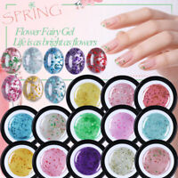 BORN PRETTY 5ml Flower Fairy Gel Polish Pink Green Soak Off Nail Art Gel Varnish