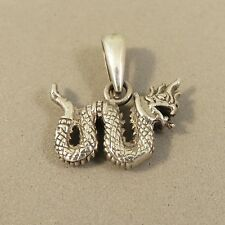 .925 Sterling Silver Small Crawling DRAGON Pendant NEW Mystical Fantasy 925 PM20