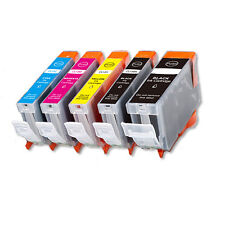 5 PK Ink Cartridges + Chip for Canon PGI-5BK CLI-8 iP4500 iP5200 MP500 MP530