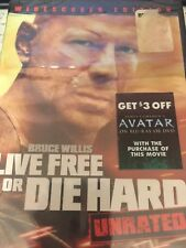 Live Free or Die Hard Unrated Widescreen Edition Brand New